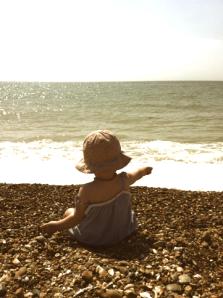 Baby G on Brighton Beach - Summer 2012