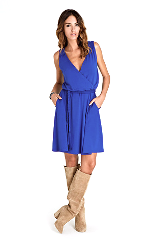 Super chic jersey dress in cobalt blue from Baukjen
