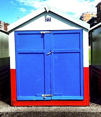 Blue Brighton Beach hut