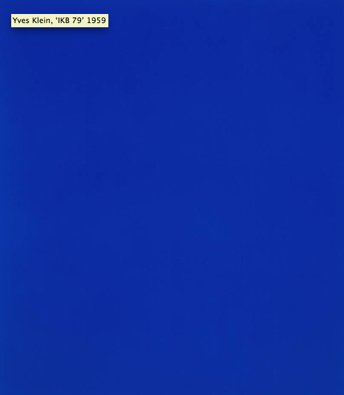 Yves Klein 'IKB 79' at the Tate, London (honestly)