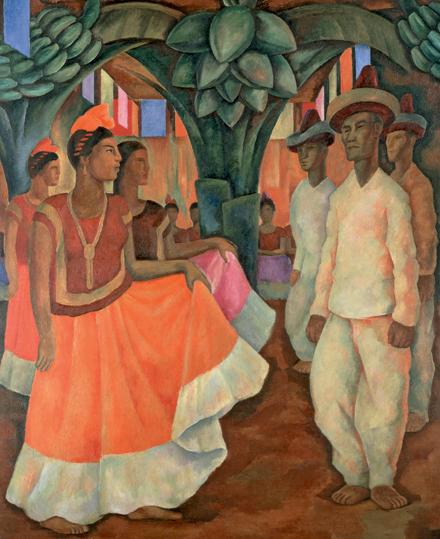 Diego Rivera, 'Dance in Tehuantepec (Baile in Tehuantepec)', 1928.