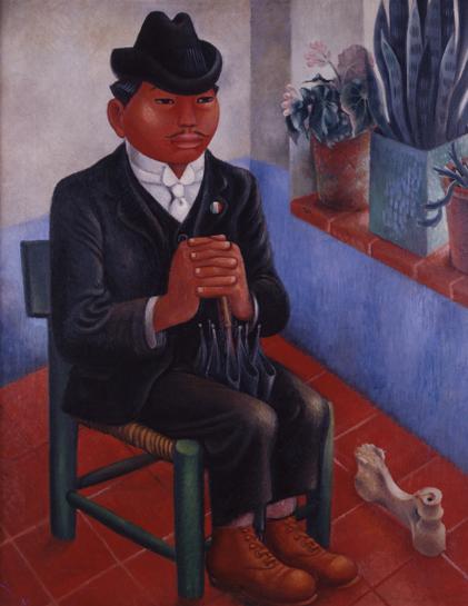Oddjob aka 'The Bone (Rural Schoolteacher) El Hueso (El maestro rural)', c. 1940 by Miguel Covarrubias