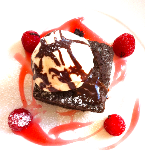 The Cocoa Loco chocolate brownie pudding...mmm