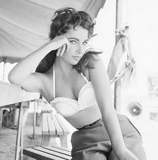 The always glamorous Elizabeth Taylor - love this photo!