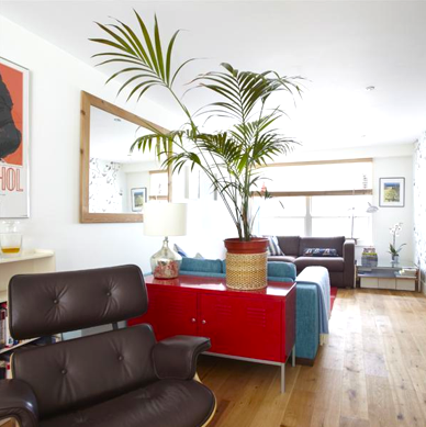 Can't miss it...the Eames takes centre stage in our mews house