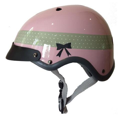 Sawako Furuno - Ribbon Pink cycle chic helmet from Velo Vitality