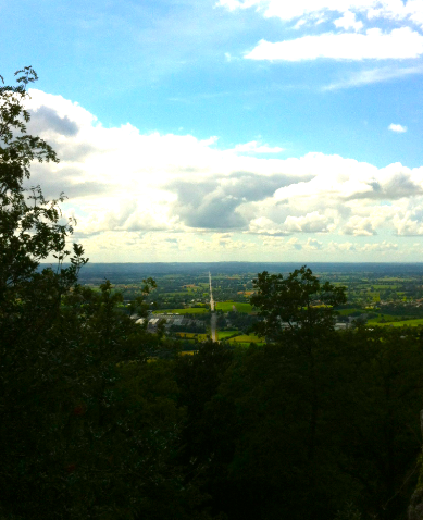 View from La Petite Chapelle to the coast and Mont St. Michel