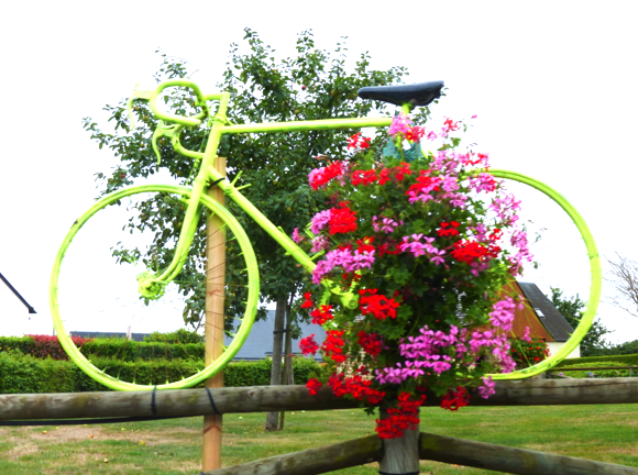 Flowers with your bike sir? (on a roundabout)