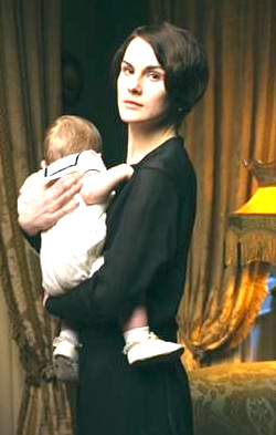 Downton Abbey and Lady Mary's baby rocking sailor style