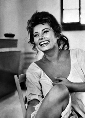 VIP treatment in Cesenatico (Sophia Loren...one of Italy's most gorgeous exports)