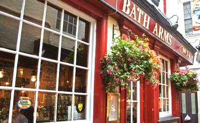 The Bath Arms...they'll make you a mean Whisky Mac...