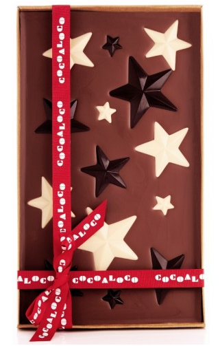Cocoa Loco Milk Chocolate Stars 'slab'...Christmas gift heaven