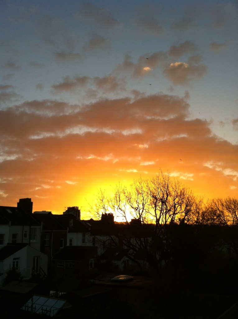 6th January 2014...the sun rises over Brighton