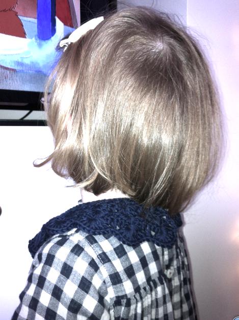 Handmade crochet Peter Pan collar by PreciousbySarah on Etsy as worn by Little G