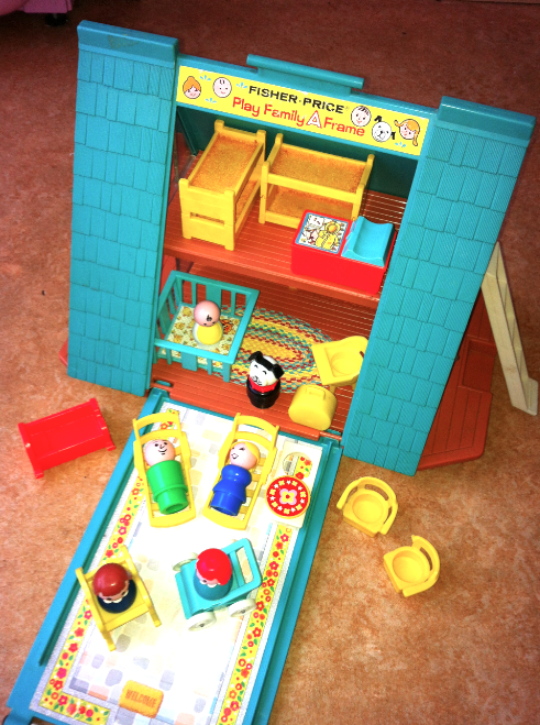 Fisher Price A-Frame Little People Play Chalet (I wanted a house like this when I grew up!)