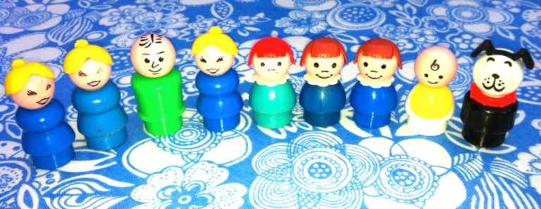 My well loved vintage Fisher Price Little People