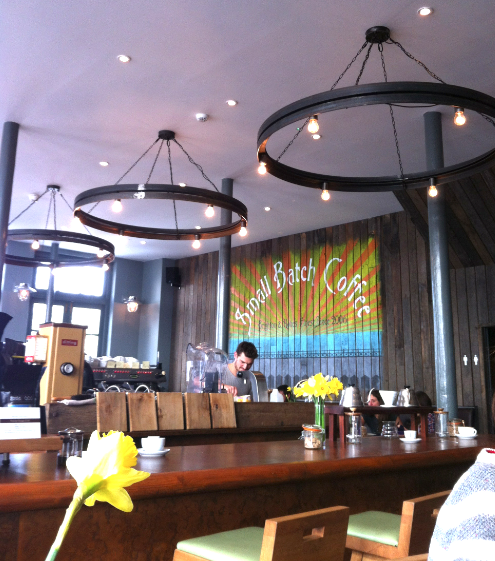 Small Batch Coffee Company in Norfolk Square  - loved it!