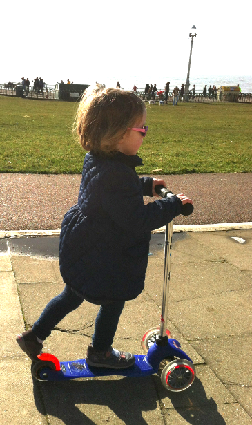 Scooting along the front