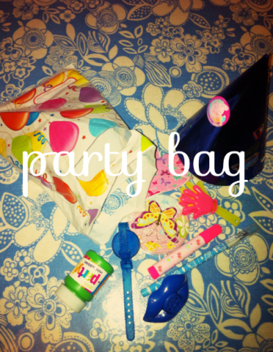 A rather brilliant party bag…Little G was most thrilled!