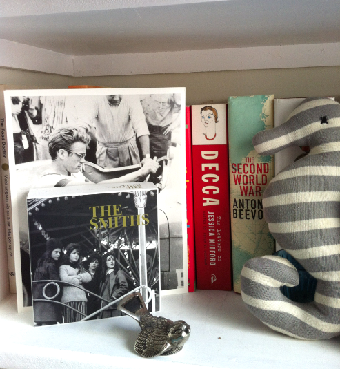 Shelf inspiration…a bit of The Smiths and James Dean
