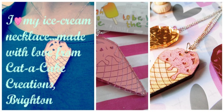 The gorgeous 'Cat-a-Cake Creations' ice-cream necklace