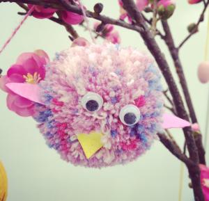 pom pom bird